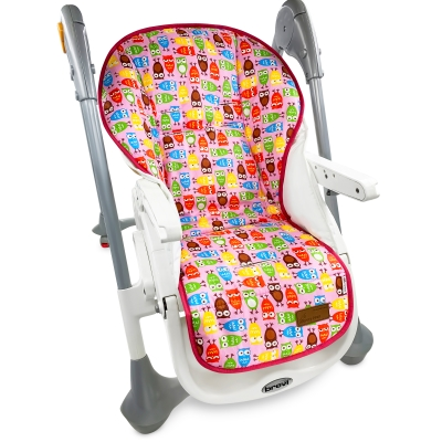 """Накидка на стульчик для кормления """"Совята Красные"""""""