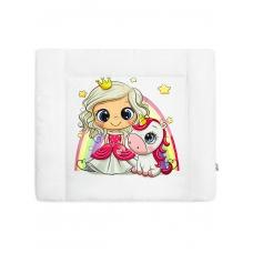"""Матрас для пеленания принт """"Princess with Unicorn"""""""