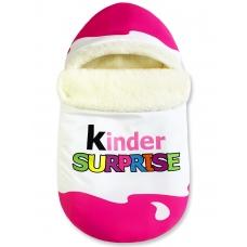 """Конверт """"Kinder Surprise"""" розовый Меховой"""