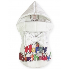 "Конверт на выписку принт ""Happy Birthday"""