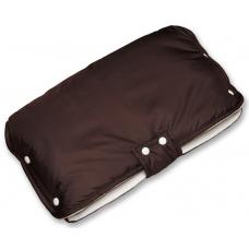Муфта на коляску коричневая с Мехом