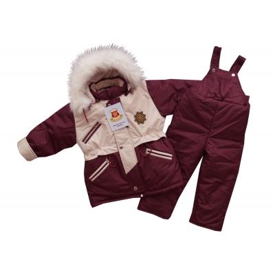 """Kостюм """"Аляска"""" (зима) темное бордо-жемчужный"""