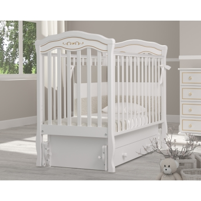 """Кровать """"Шарлотта люкс"""" маятник белый"""