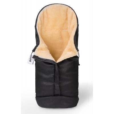 Конверт в коляску Esspero Sleeping Bag Lux (натуральная 100% шерсть) - Black