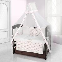 Комплект постельного белья Beatrice Bambini Cuore Stella - BIANCO BIANCO ROSA