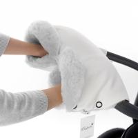 Муфта для рук на коляску Esspero Ingrid (100% овечья шерсть) - White
