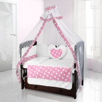 Комплект постельного белья Beatrice Bambini Cuore Grande Stella - rosa bianco