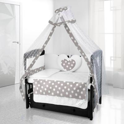 Комплект постельного белья Beatrice Bambini Cuore Grande Stella - grigio bianco
