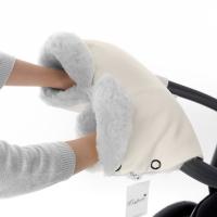 Муфта для рук на коляску Esspero Ingrid (100% овечья шерсть) - Beige