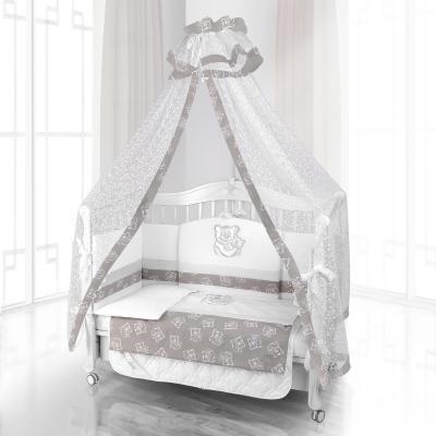 Комплект постельного белья Beatrice Bambini Unico Orso Mamma (125х65) - bianco grigio