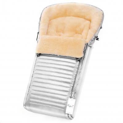 Конверт в коляску Esspero Lukas (натуральная 100% шерсть) - Silver