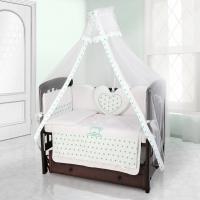 Комплект постельного белья Beatrice Bambini Cuore Stella - BIANCO BIANCO VERDE