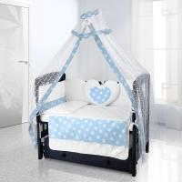 Комплект постельного белья Beatrice Bambini Cuore Grande Stella - blu bianco