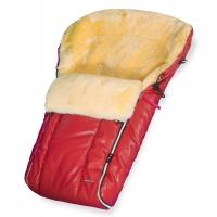 Конверт в коляску меховой Esspero Nicolas Leatherette (натуральная овчина) - Red