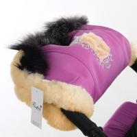 Муфта для рук на коляску Esspero Amato ST (натуральный мех) - Pink