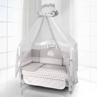 Комплект постельного белья Beatrice Bambini Unico Smile (125х65) - grigio bianco