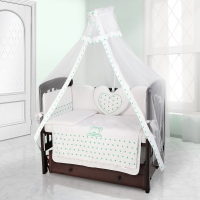Балдахин на детскую кроватку Beatrice Bambini Bianco Neve - Stella Bianco Verde