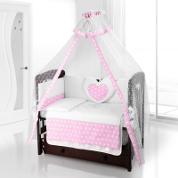 Комплект постельного белья Beatrice Bambini Cuore Grande Anello - BIANCO ROSA