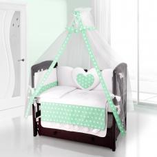 Балдахин на детскую кроватку Beatrice Bambini Bianco Neve - Anello Verde