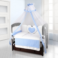 Комплект постельного белья Beatrice Bambini Cuore Puntini - BIANCO BLU