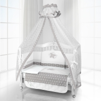 Комплект постельного белья Beatrice Bambini Unico Smile (125х65) - bianco grigio