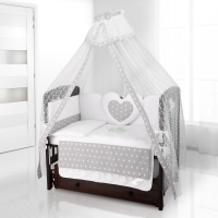 Комплект постельного белья Beatrice Bambini Cuore Stella - BIANCO GRIGIO