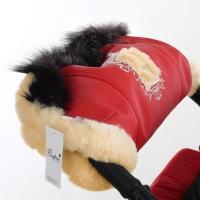 Муфта для рук на коляску Esspero Amato ST (натуральный мех) - Red