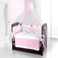 Балдахин на детскую кроватку Beatrice Bambini Bianco Neve - Anello Rosa