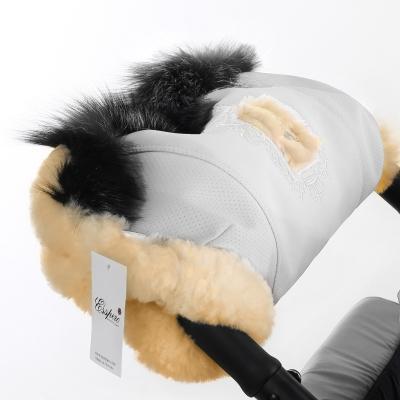 Муфта для рук на коляску Esspero Amato ST (натуральный мех) - White