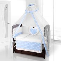 Комплект постельного белья Beatrice Bambini Cuore Grande Anello - BIANCO BLU