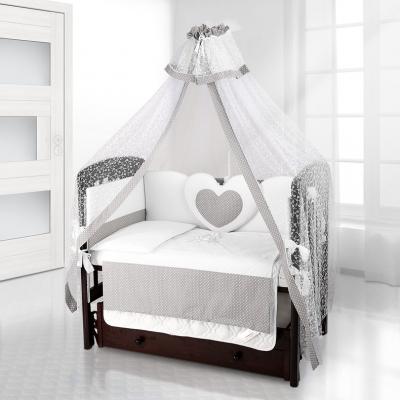 Комплект постельного белья Beatrice Bambini Cuore Puntini - BIANCO GRIGIO