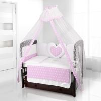 Комплект постельного белья Beatrice Bambini Cuore Stella - BIANCO ROSA