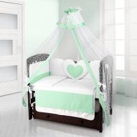 Балдахин на детскую кроватку Beatrice Bambini Di Fiore - Puntini verde