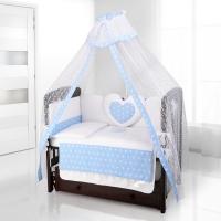 Комплект постельного белья Beatrice Bambini Cuore Stella - BIANCO BLU