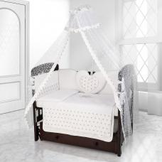Балдахин на детскую кроватку Beatrice Bambini Di Fiore - Stella bianco grigio