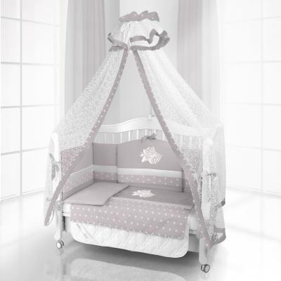 Комплект постельного белья Beatrice Bambini Unico Smile (125х65) - grigio grigio