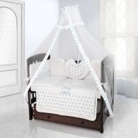 Балдахин на детскую кроватку Beatrice Bambini Bianco Neve - Stella Bianco Blu