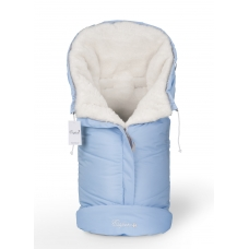 Конверт в коляску Esspero Sleeping Bag White (натуральная 100% шерсть) - Blue Mountain