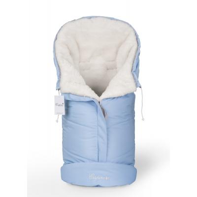 Конверт в коляску Esspero Sleeping Bag White (натуральная 100% шерсть) - Blue Mountain