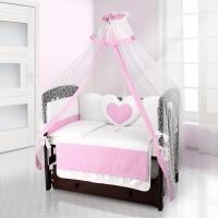 Комплект постельного белья Beatrice Bambini Cuore Puntini - BIANCO ROSA