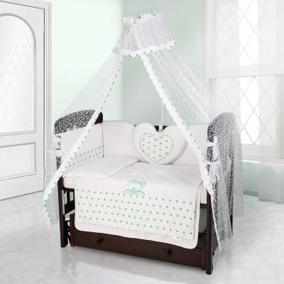 Балдахин на детскую кроватку Beatrice Bambini Di Fiore - Stella bianco verde