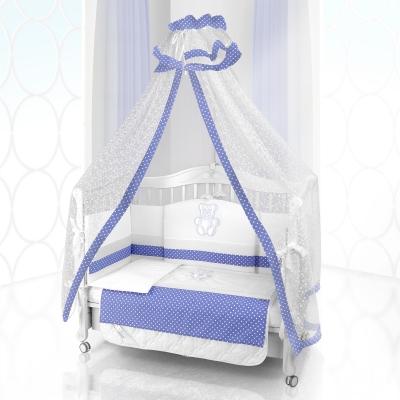 Комплект постельного белья Beatrice Bambini Unico Puntini (125х65) - bianco azurro