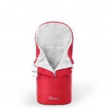 Конверт в коляску Esspero Transformer White (натуральная 100% шерсть) - Red