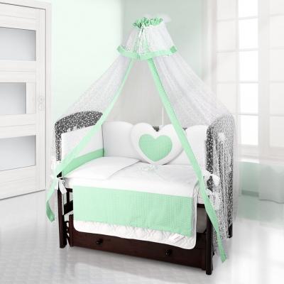Комплект постельного белья Beatrice Bambini Cuore Puntini - BIANCO VERDE