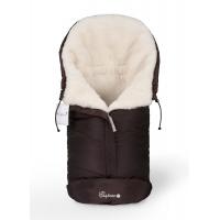 Конверт в коляску Esspero Sleeping Bag White (натуральная 100% шерсть) - Chocolat