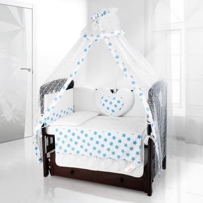 Комплект постельного белья Beatrice Bambini Cuore Grande Stella - bianco blu