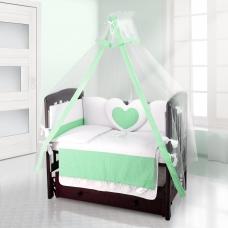Балдахин на детскую кроватку Beatrice Bambini Bianco Neve - Puntini Verde