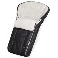 Конверт в коляску Esspero Markus Lux (натуральная 100% овечья шерсть) - Black