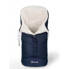 Конверт в коляску Esspero Sleeping Bag White (натуральная 100% шерсть) - Navy