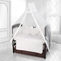 Комплект постельного белья Beatrice Bambini Cuore Stella - BIANCO BIANCO GRIGIO